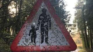 Fontmell Magna road sign