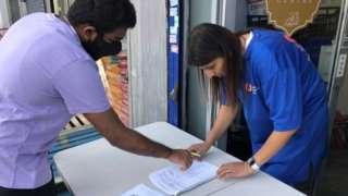 Student points out his registration details