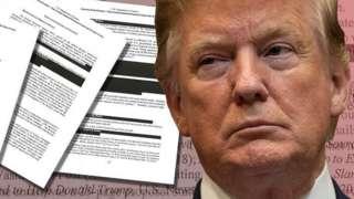 Официальный отчет о результатах расследования и Дональд Трамп.