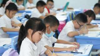 Children at after-school tutoring in Foshan, Guangdong province - 1 September