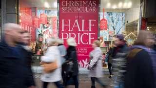 Christmas shoppers
