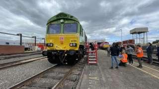 Locomotive in Toton