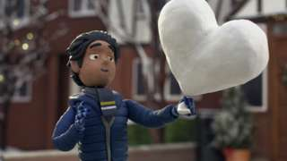 A image of a boy from the John Lewis advert