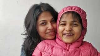 Drisya and her daughter Johannah
