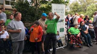Protesters from Guernsey Society for Physically Disabled People
