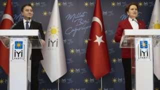 Babacan ve Akşener görüşmenin ardından bir basın toplantısı düzenledi