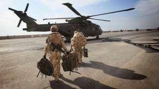 British troops at Basra Airport near Basra, Iraq
