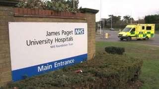 Ambulance entering hospital