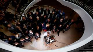 US House Republicans speak to reporters ahead of the impeachment inquiry