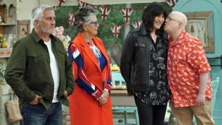 Paul Hollywood, Prue Leith, Noel Fielding and Matt Lucas on The Great British Bake Off
