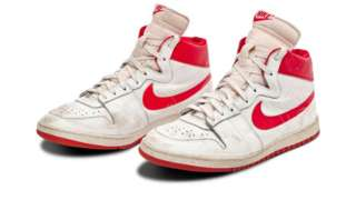 Michael Jordan's Nike Air Ships trainers sold at Sotheby's auction in Las Vegas