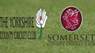 Yorkshire v Somerset badges