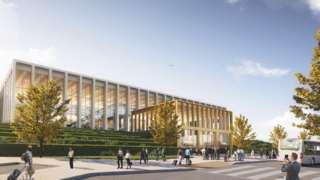 Proposed building at Leeds Bradford Airport