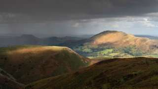 Storm on the Shropshire Hills by Richard Greswell