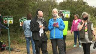 Campaigners from Don't Drill The Wight