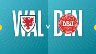 Wales v Denmark badges