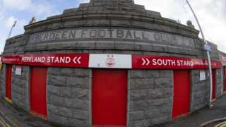 Merkland road entrance to Pittodrie