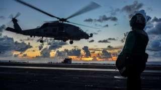 美国里根号航空母舰7月中旬曾在南海水域参加军事演习。