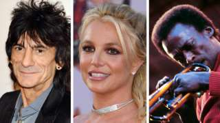 Ronnie Wood, Britney Spears and Miles Davis