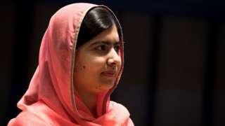 Malala Yousafzai looks on during a ceremony to name her as a United Nations Messenger of Peace at UN headquarters, April 10, 2017