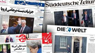 Newspaper front covers
