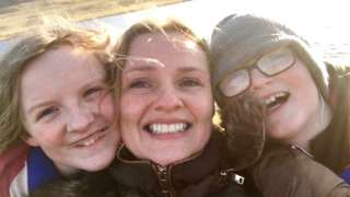 Molly Moyle with her children, Phoebe and Ryan