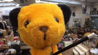 Sooty hand puppet with wand