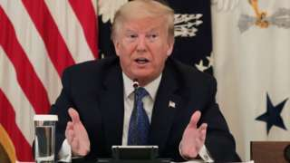 Trump at a cabinet meeting