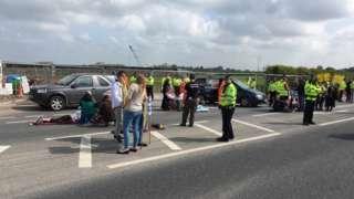 Protest at Preston New Road site