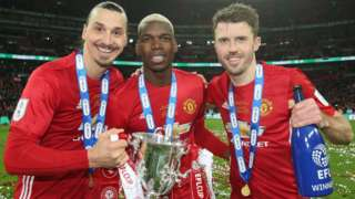 Zlatan Ibrahimovic, Paul Pogba and Michael Carrick