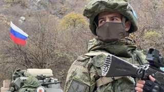 Dadivank es una de las poblaciones donde persiste la presencia militar rusa.