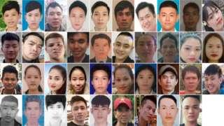 From top left: Dinh Dinh Binh, Nguyen Minh Quang, Nguyen Huy Phong, Le Van Ha, Nguyen Van Hiep, Bui Phan Thang, Nguyen Van Hung, Nguyen Huy Hung, Nguyen Tien Dung, Pham Thi Tra My, Tran Khanh Tho, Nguyen Van Nhan, Vo Ngoc Nam, Vo Van Linh, Nguyen Ba Vu Hung, Vo Nhan Du, Tran Hai Loc, Tran Manh Hung, Nguyen Thi Van, Bui Thi Nhung, Hoang Van Tiep, Tran Thi Ngoc, Phan Thi Thanh, Tran Thi Tho, Duong Minh Tuan, Pham Thi Ngoc Oanh, Tran Thi Mai Nhung, Le Trong Thanh, Nguyen Ngoc Ha, Hoang Van Hoi, Tran Ngoc Hieu, Cao Tien Dung, Dinh Dinh Thai Quyen, Dang Huu Tuyen, Nguyen Dinh Luong, Cao Huy Thanh Nguyen Trong Thai, Nguyen Tho Tuan and Nguyen Dinh Tu