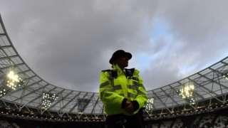 policewoman at London Stadium