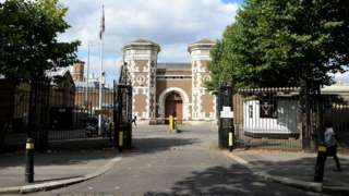 of the main entrance of HMP Wormwood Scrubs in Hammersmith