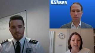 James Senior, Rachel Ward and Matthew Barber