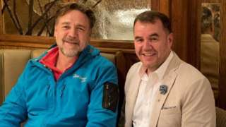 Russell Crowe and Terry George