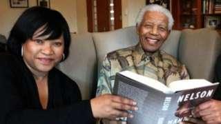 Zindzi Mandela na babake marehemu Nelson Mandela