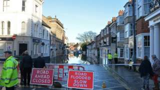 Flooding in Tadcaster