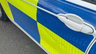 A North Wales Police car