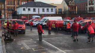 royal mail staff standoff in derry