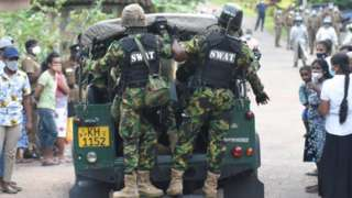 Police Special Task Force was deployed to control a group of family members of inmates at the Mahara Prison who gathered in front of the prison demanding they be allowed to see their imprisoned relatives. The incident follows after eight inmates were killed in a prison riot which saw guards clash with inmates. Mahara outskirts Colombo November 30, 2020 The inmates had launched protests amid a surge of coronavirus infections in the prisons, demanding early release on bail and better facilities. Over 70 individuals, inmates and guards alike, sustained injuries in the incident.