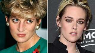 Princess Diana (left) and Kristen Stewart