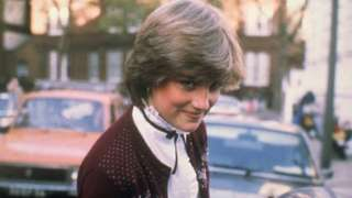 Lady Diana Spencer outside her flat in Earl's Court