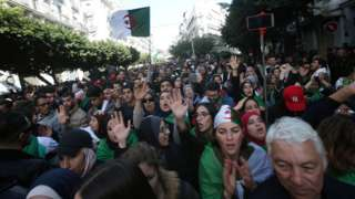 Demonstrators shout slogans during a protest to reject the presidential election in Algiers, Algeria December 12, 2019