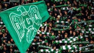 Les fans du club marocain de Raja Casablanca