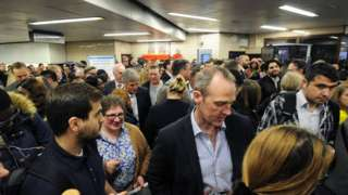 Crowds inside Seven Sisters tube station