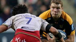 Wasps and England lock Joe Launchbury made a successful reappearance on only his fourth start of the season after injury