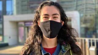 Hanane Ortega with mask
