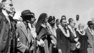 Ông Martin Luther King đi từ Selma tới Montgomery ngày 22/3/1965