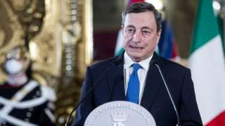 Former European Central Bank President Mario Draghi in Rome, Italy, 3 February 2021